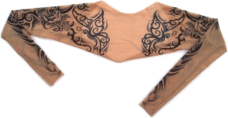 Wild Rose con tatuaggi coprispalle da donna con maniche bolero collegate