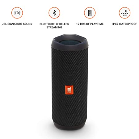 ee81ff8c9 Amazon.com  JBL Flip 4 Bluetooth Portable Stereo Speaker - black   Electronics