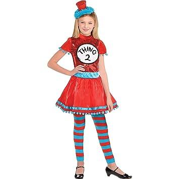 Amazoncom Costumes Usa Dr Seuss Thing 1 Thing 2 Dress Halloween