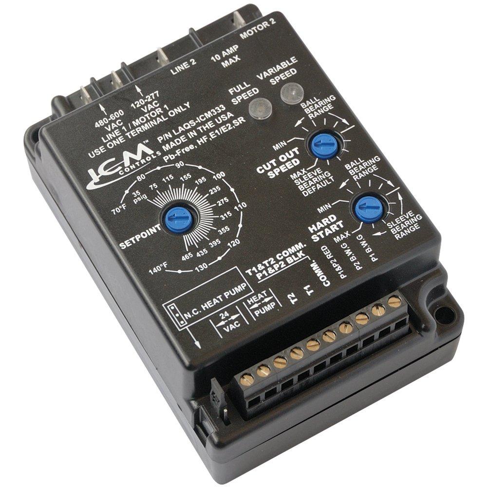 ICM Controls ICM333 Low Ambient Head Pressure Control, 120-600 VAC; Dual Temp Or Dual Pressure Inputs