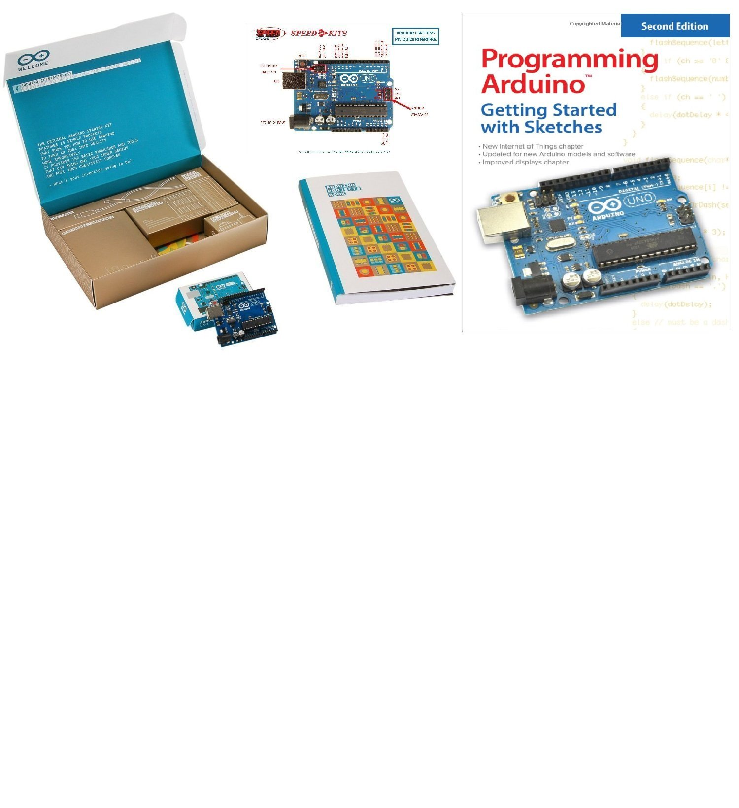 The Official Starter Kit For Arduino Uno R3 Advanced Arduino Kit with Programming Arduino Getting Started with Sketches By Simon Monk by SPEED-KITS