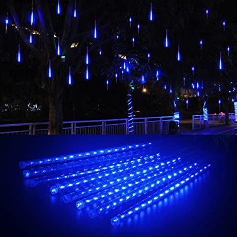 ashine led meteor shower rain lights falling rain drop christmas lights with 30cm 8 tube