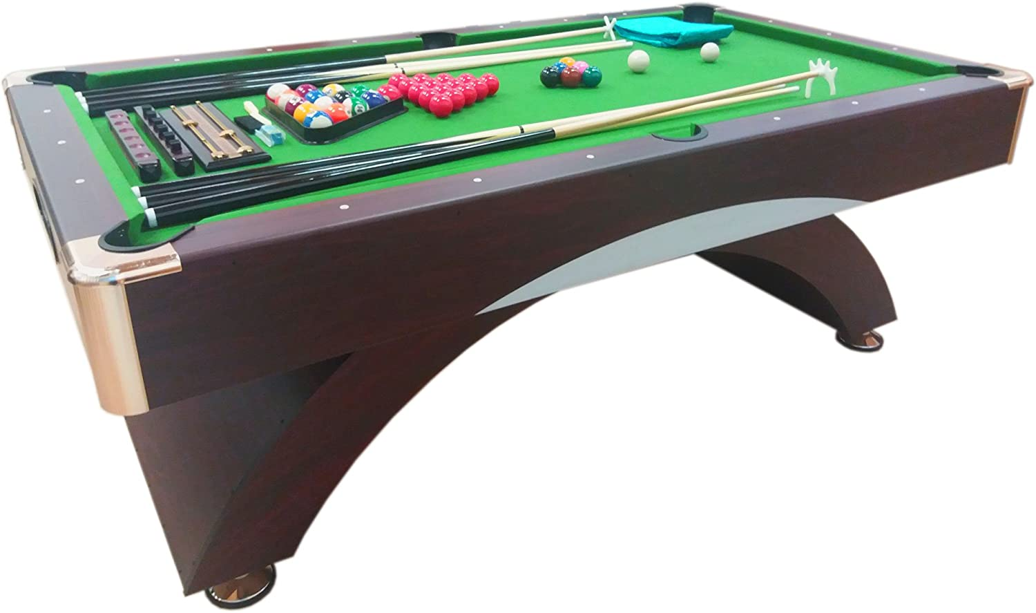 MESA DE BILLAR JUEGOS DE BILLAR 7 FT CON PAÑO VERDE FULL OPTIONAL CARAMBOLA - SNOOKER | SHOOTING GREEN FULL: Amazon.es: Deportes y aire libre