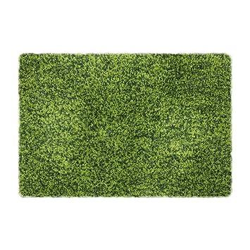 Yontree Tapis De Bain Antiderapant Tapis De Douche Microfibre Vert