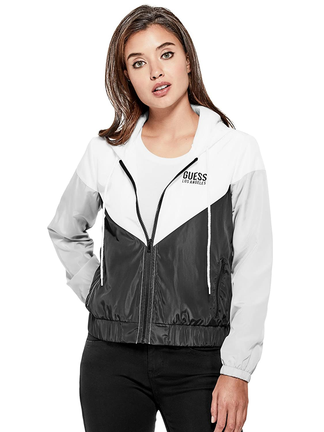 Guess Factory Women's RiRi Color-Block Windbreaker GuessFactory