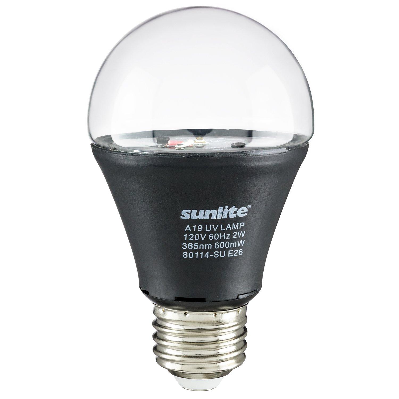 Sunlite A19/LED/2W/BLB LED UV 2W A19 Blacklight Blue Bulb with E26 Medium Base
