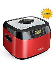 Pulitore ad ultrasuoni, Tacklife MUC01 lavatrice ad ultrasuoni professionale 1200ml 40KHz 60W con 5 impostazioni di tempo per pulire occhiali, orologi, gioielli, verdura, frutta ecc