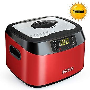 limpiador por ultrasonidos, Tacklife-MUC01- Limpiador ultrasúnico 1200ml, 40KHZ Super Capacidad con