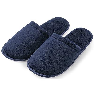 Pembrook Men's Slippers with Memory Foam - Soft Polar Fleece - House Slippers for Adults, Men, Boys   Slippers