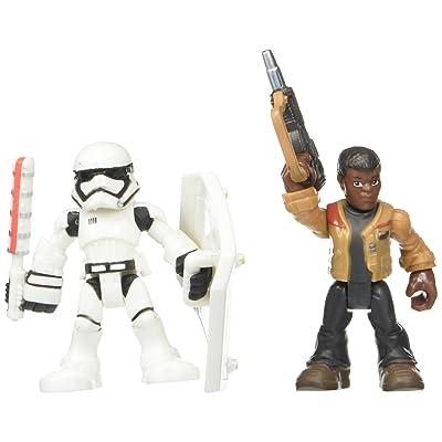 Playskool Heroes Galactic Heroes Star Wars Resistance Finn (Jakku) & First Order Stormtrooper: Toys & Games