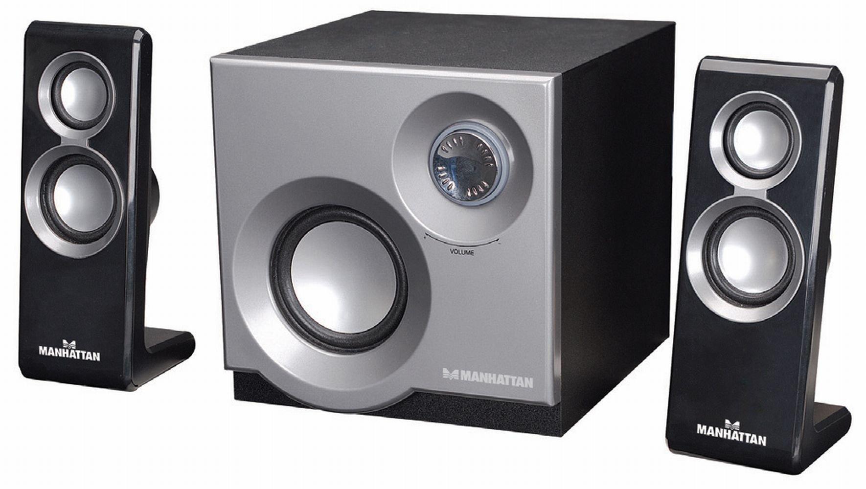 MANHATTAN 3050 2.1 Speaker System with 2 Satellites and 1 Subwoofer (161701)
