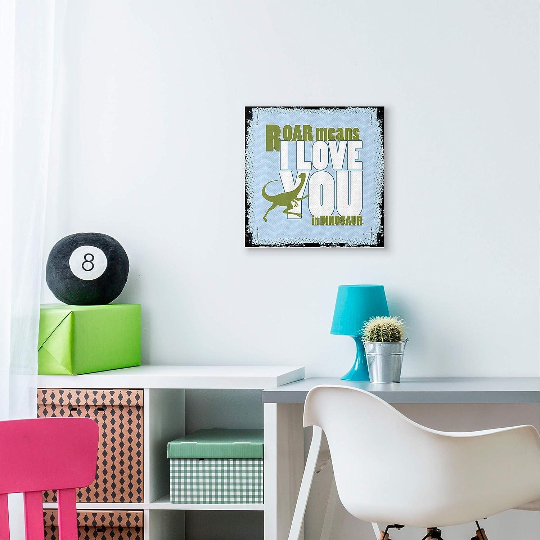 30 x 30 Stupell Industries Roar I Love You Kids Nursery Word Canvas Design by Artist The Saturday Evening Post Wall Art