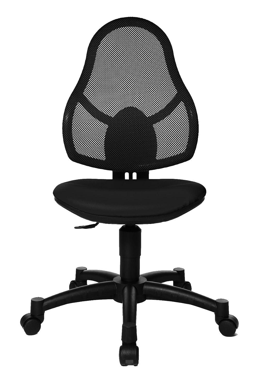 Schwarz Topstar Open Art Junior, Schreibtischstuhl für Kinder und Jugendliche, Bezugsstoff, schwarz