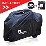 Motorcycle Cover For Moped Scooter - Waterproof Outdoor Bike Storage With Bonus Lock Heavy Duty Tarp Material Bicycle Covers