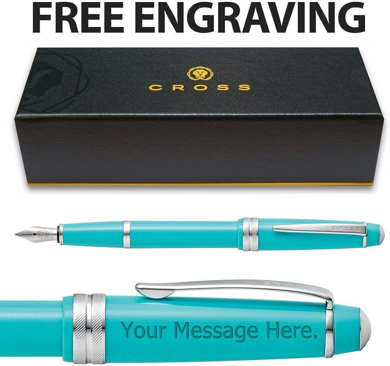 AT Cross Bailey AT0746-6XS - Pluma estilográfica en caja de regalo, color turquesa Free Engraving: Amazon.es: Oficina y papelería