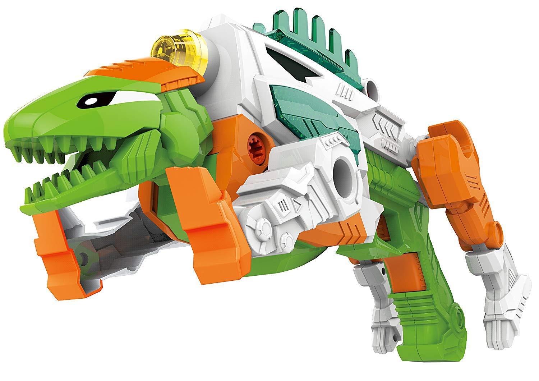 Liberty Imports 3-in-1 Dinoblaster Transforming Dinosaur Gun Engineering Take Apart Toy Tool Kit with Lights & Sound (Tyrannosaurus Rex)