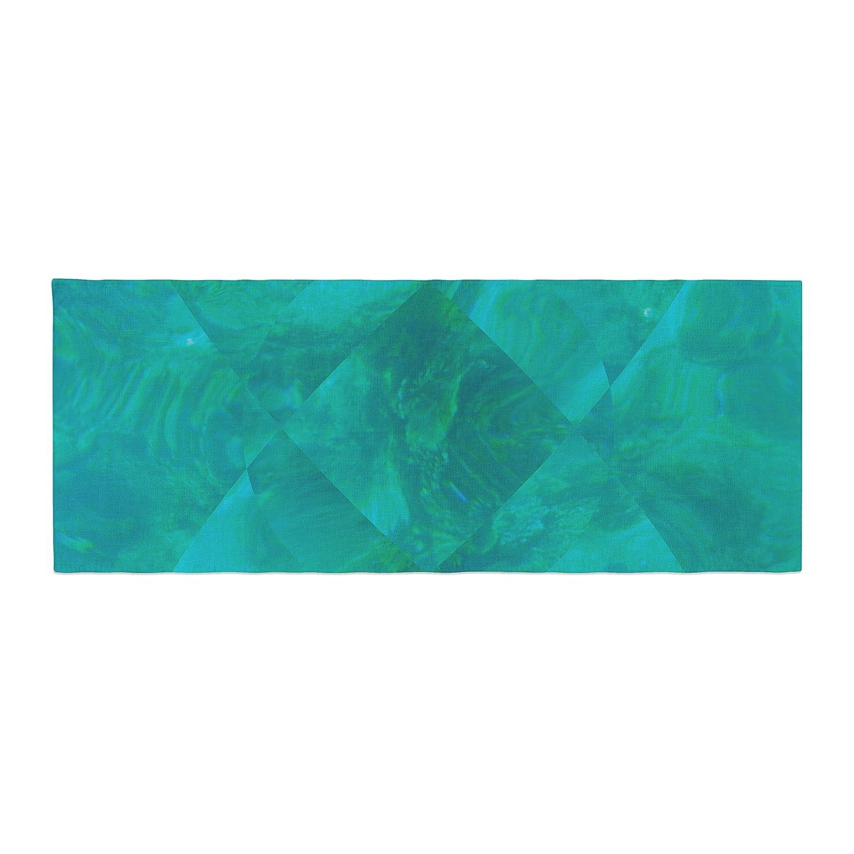 Kess InHouse Matt Eklund Under The Sea Teal Green Bed Runner