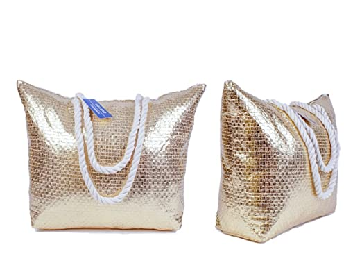 Lorenz Gold Beach Bag.: Amazon.co.uk: Clothing