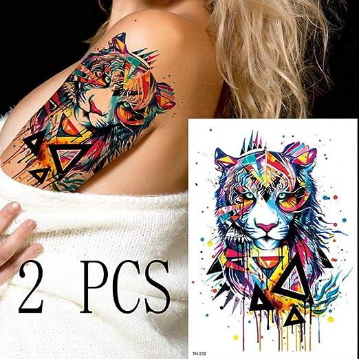 tzxdbh 3pcs Rosa Acuarela Linda Fox Fox Fox Tatuaje íntimo Arte ...