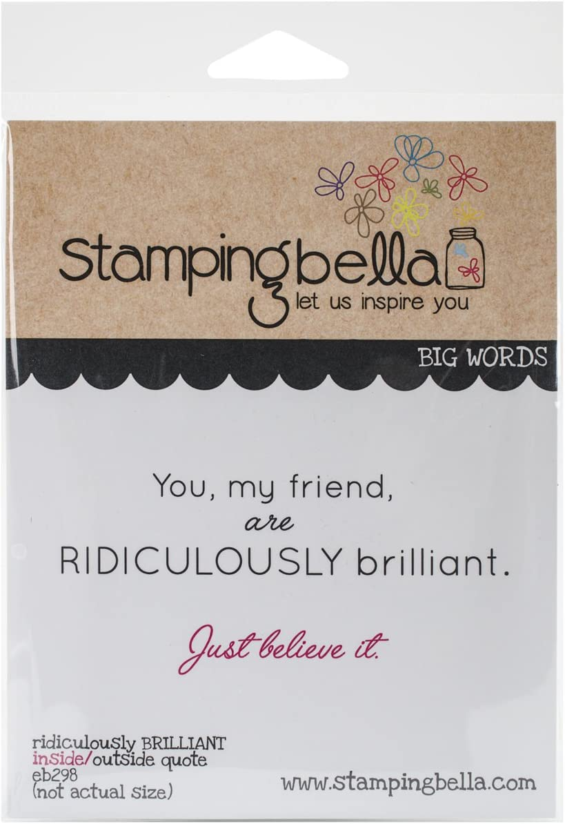 Stamping Bella Cling Rubber Stamp 6.5X4.5-Ridiculously Brilliant