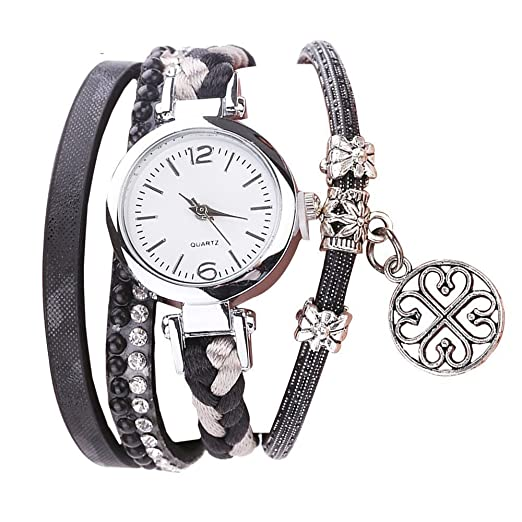 dce12171fa56 POTO Women Quartz Watches Clearance Sale,Fashion Rhinestone Pendant  Bracelet Watch Dress Wristwatch Analog Quartz Wrist Watches Jewelry Gift  Watches for ...