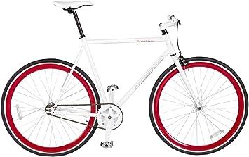 Rocasanto Bike - Bicicleta Fixie v, tamaño 57, Color Blanco/Rojo ...
