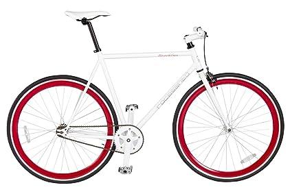 Rocasanto Bike - Bicicleta fixie v, tamaño 57, color blanco/rojo