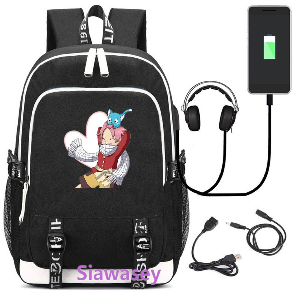 dd11af2bc678 Amazon.com: Siawasey Anime Fairy Tail Cosplay Backpack Daypack ...