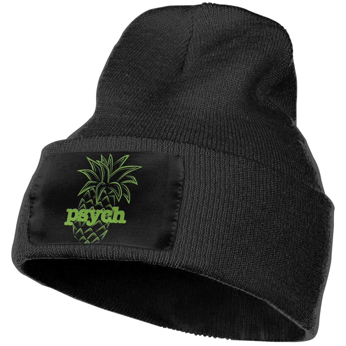 SLADDD1 Psych Pineapple Warm Winter Hat Knit Beanie Skull Cap Cuff Beanie Hat Winter Hats for Men /& Women