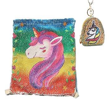 Amazon.com: Mochila de playa, diseño de unicornio con ...