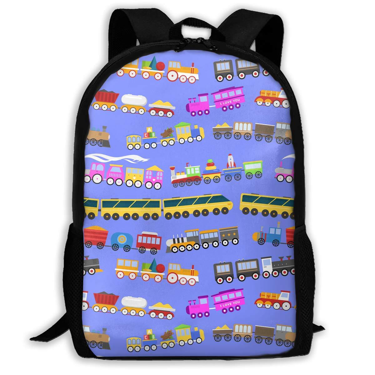 688e88c8ddc8 TAOHJS106 Travel Railroad Pattern Waterproof Adult Backpack Shoulder Bag  for Women and Men Premium Durable Rucksack Bookbag Best for Athletic