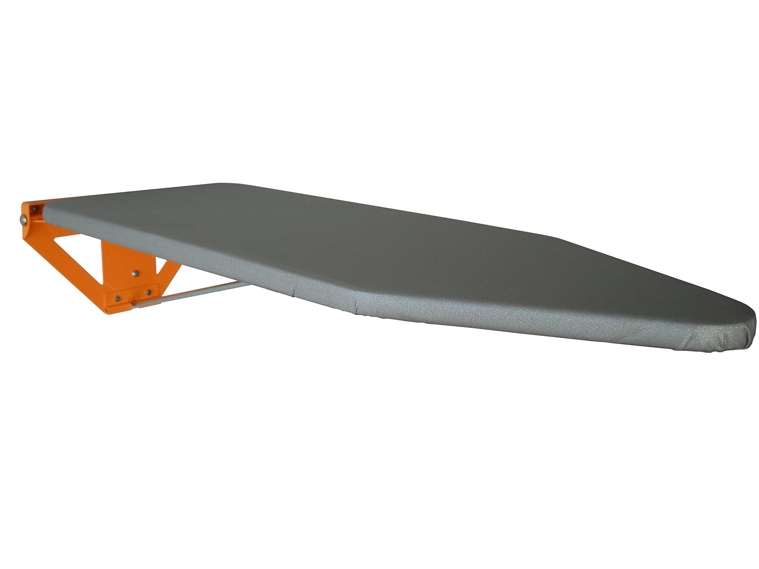 Compact Wall Mounted Ironing Board - Limited Edition Orange Fixing Plate