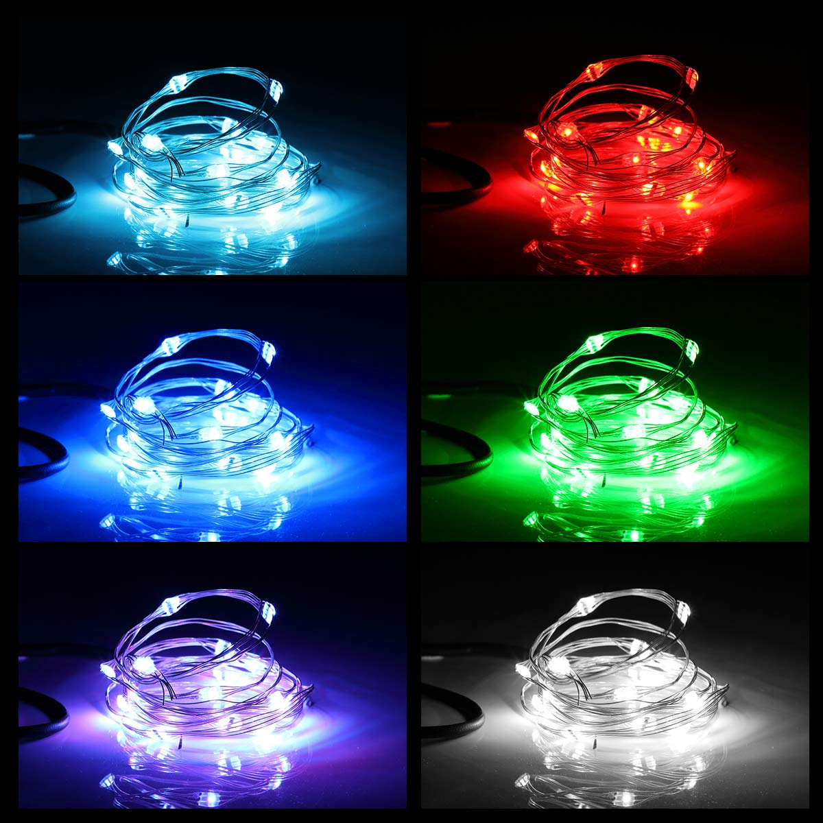 AOYOO Bicycle Wheel Light Night Light (1 Tire Pack) Waterproof 7 Color Outdoor Lighting Bicycle Tire Accessories You Can Choose Your Favorite Color 18 Flash Pattern Personality Selection, Safety Spoke by AOYOO (Image #4)