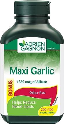 Adrien Gagnon - Maxi Garlic 1250 mcg, for Cardiovascular Health, Helps Reduce Blood Lipids, 300 tablets