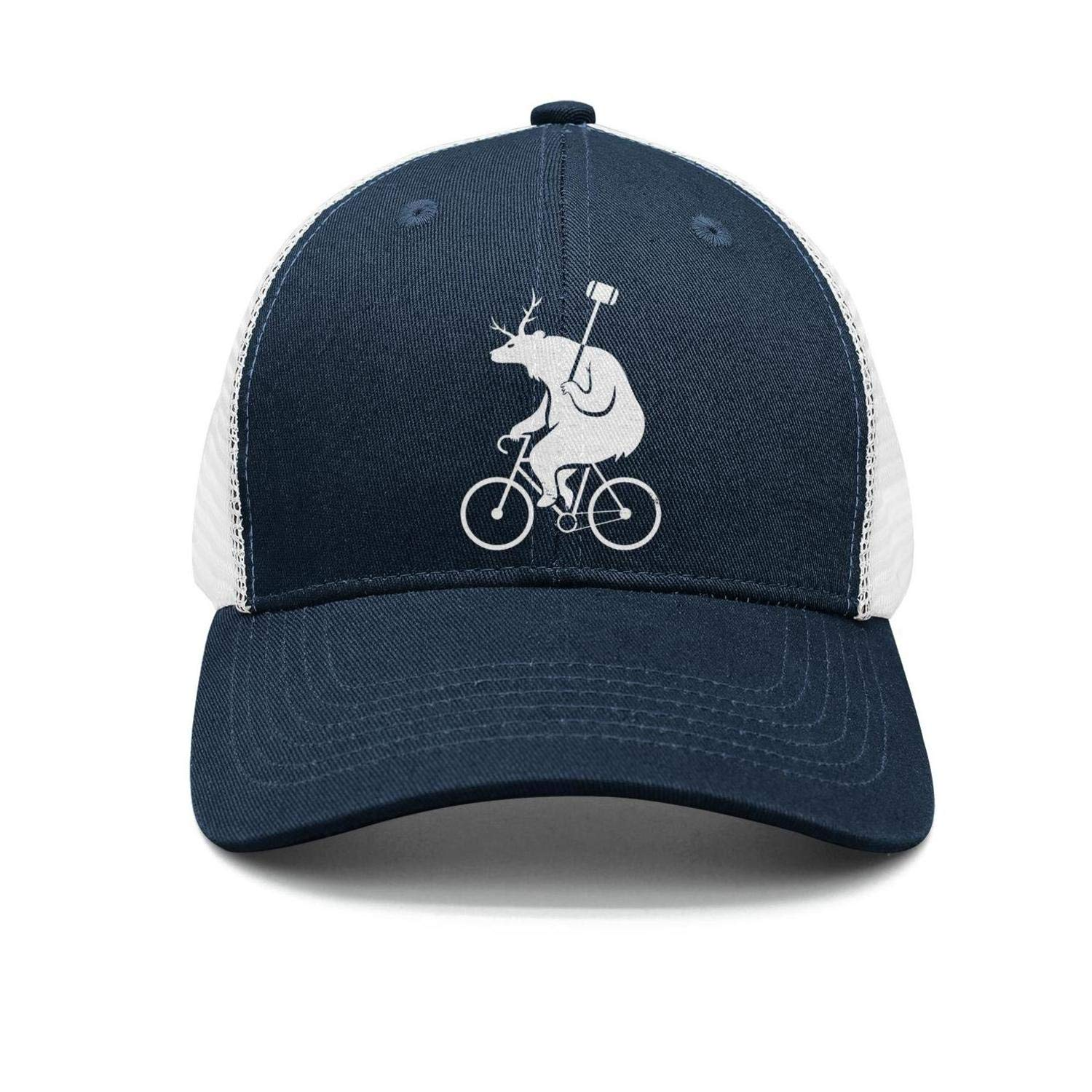 abf890cec Amazon.com  ZYNEW Bike Polo Bear Unisex Casual Mesh Flat Cap Fitted Snapback  hat Sport Cap One Size  Clothing
