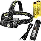 Nitecore HC60 1000 Lumen USB Rechargeable LED Headlamp with 2X 3400 mAh Rechargeable Batteries, USB