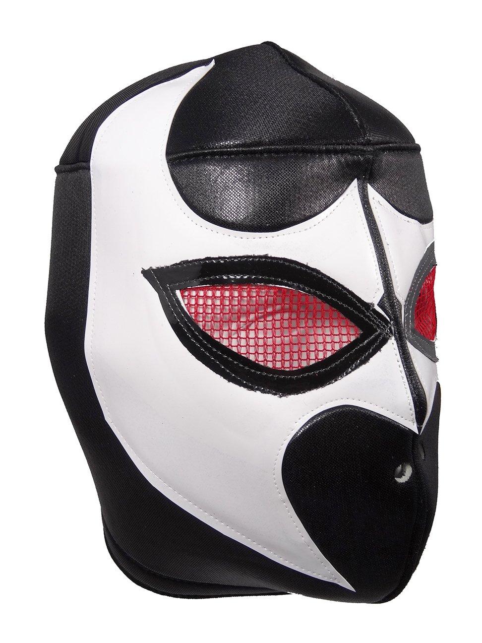 BLACK VIPER Adult Lucha Libre Wrestling Mask (pro-fit) Costume Wear - Black