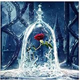 5D Resin Diamond Painting Rose Flower in Glass Bottle Scenery Embroidery Painting DIY Kit