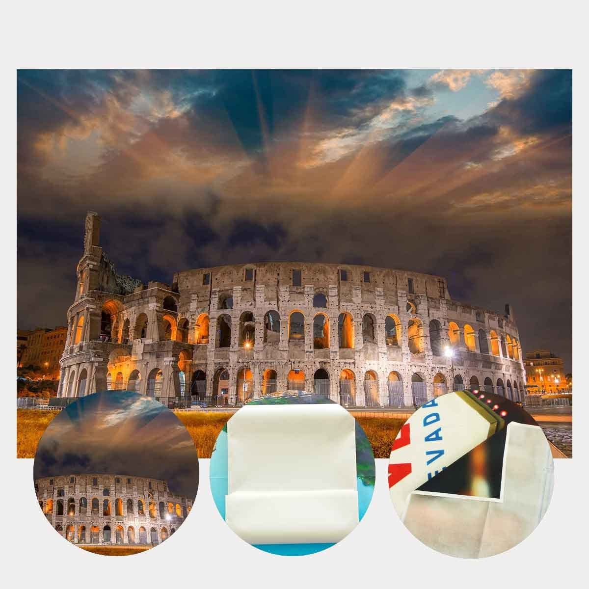 LYLYCTY 7x5ft Ancient Architecture Backdrop Bright Colosseum Night Scene Photography Backdrop Photo Photography Background Props Studio Display Mural LYLX474