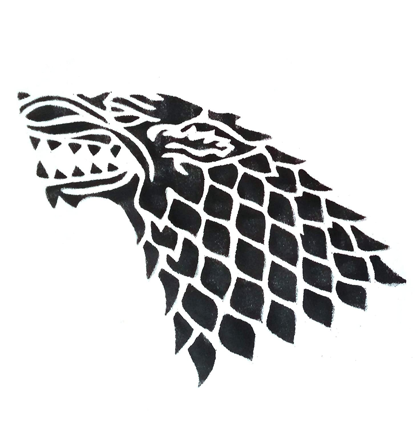image relating to Game of Thrones Stencil Printable referred to as : Match of Thrones Influenced Homemade Stencil. Stark