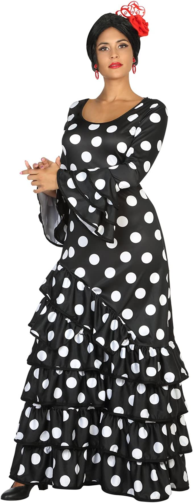 Atosa Disfraz de Flamenca Negro para Mujer: Amazon.es: Juguetes y ...