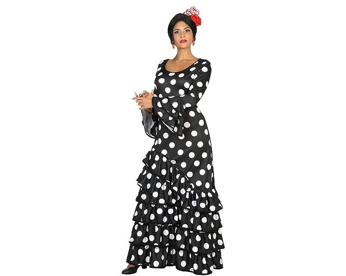 Atosa Disfraz de Flamenca Negro para Mujer