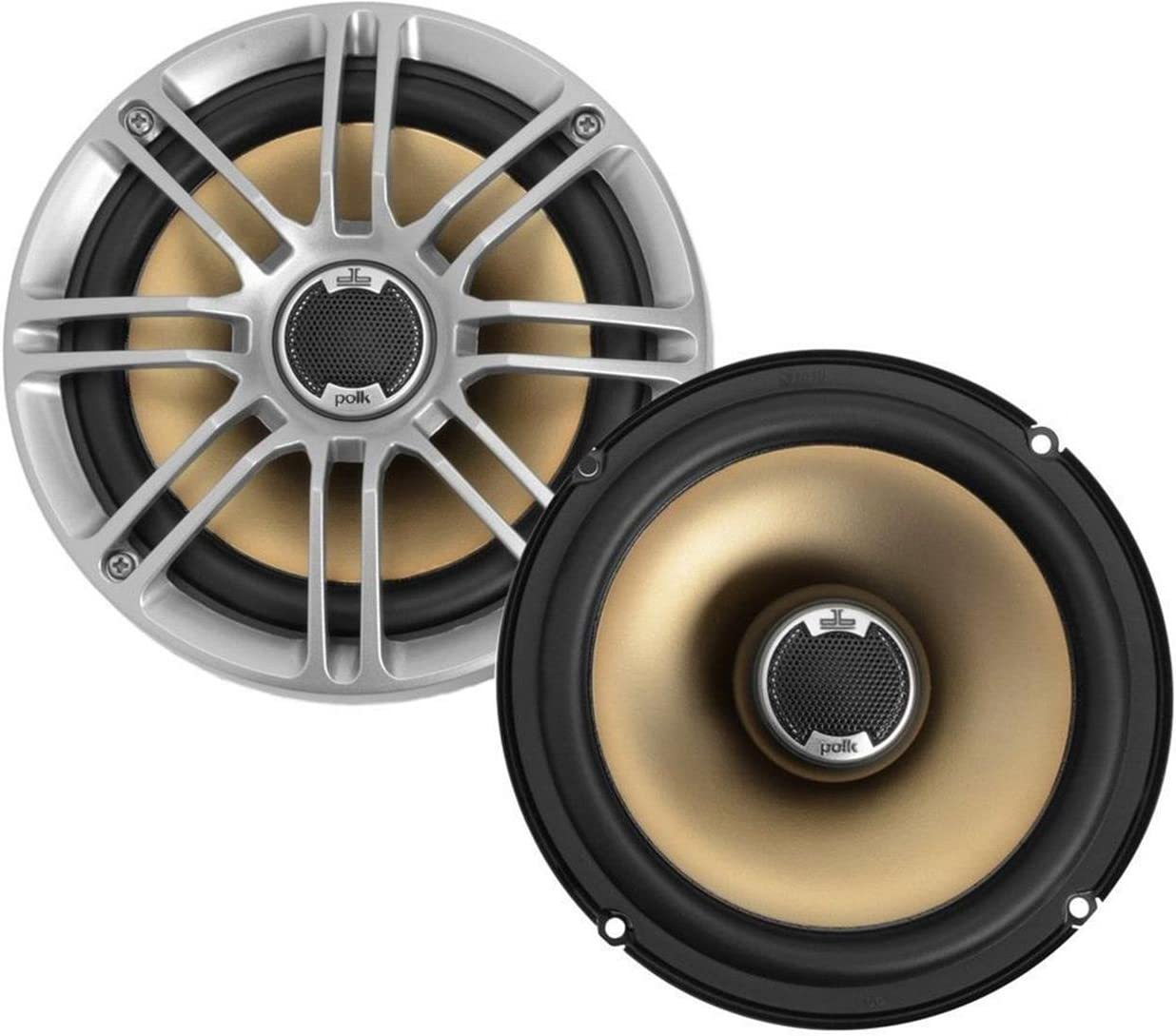 """Polk Audio DB651 6.5""""/6.75"""" 2-Way Marine Certified db Series Car Speakers with Liquid Cooled Silk Tweeters (Discontinued by Manufacturer)"""
