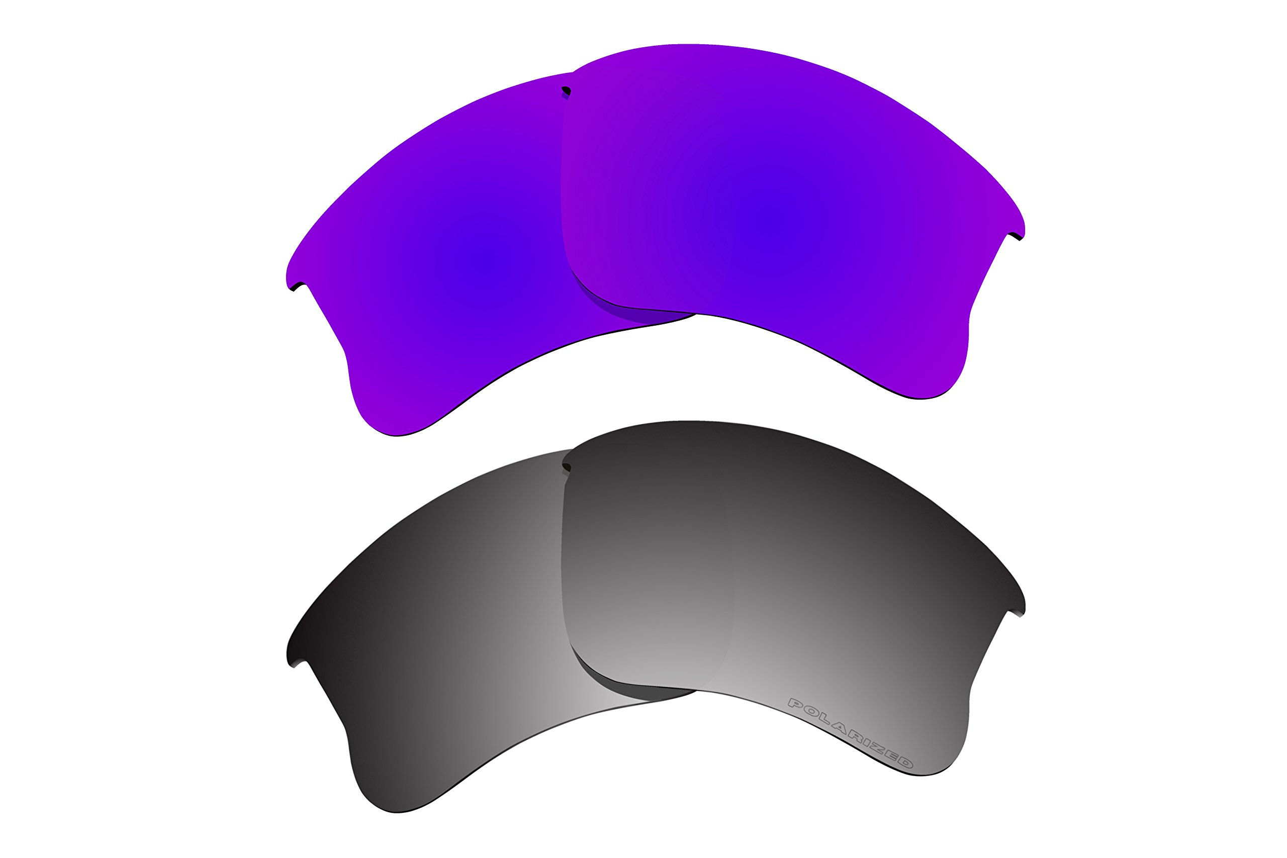 Polarized Lens Replacement for Oakley Flak Jacket XLJ Sunglass 2 Pairs Pack N12 by BVANQ