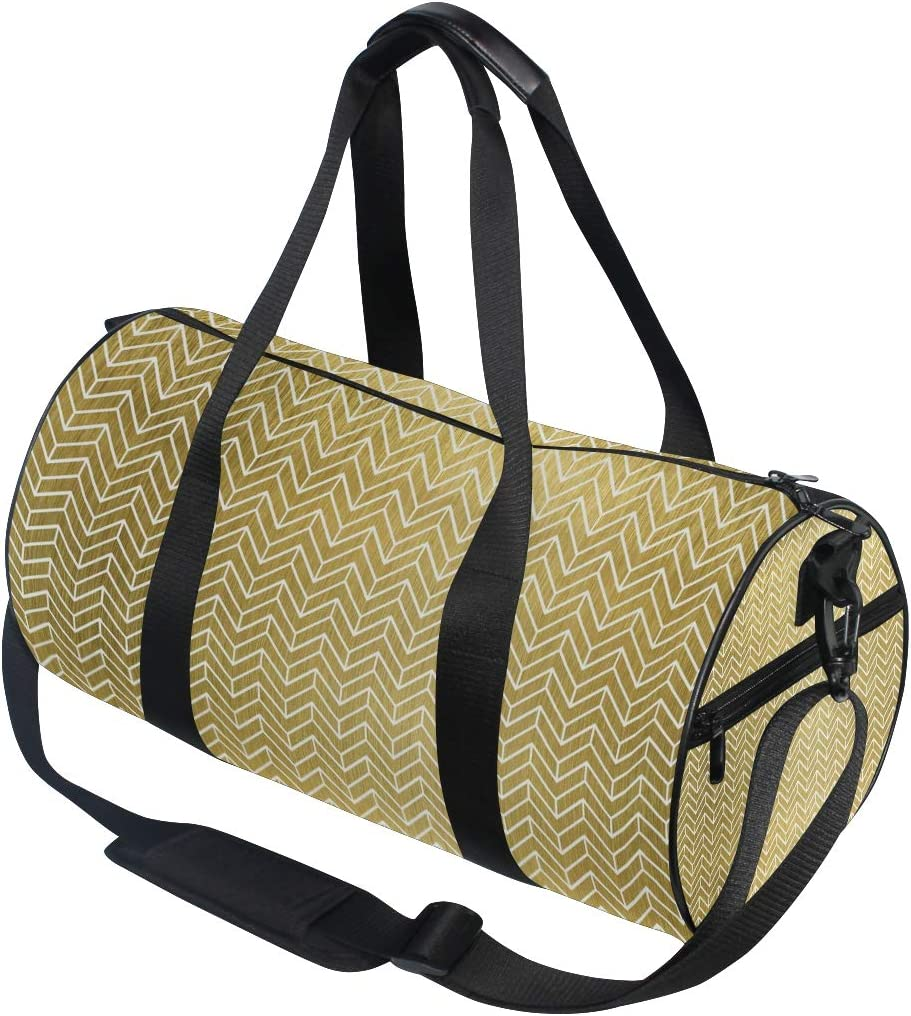 MALPLENA Shinning Golden Background Pattern Drum gym duffel bag women Travel Bag