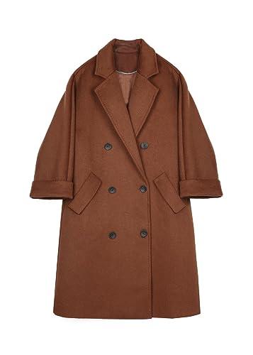 Doble fila en el invierno para abrigos largos, la lana?