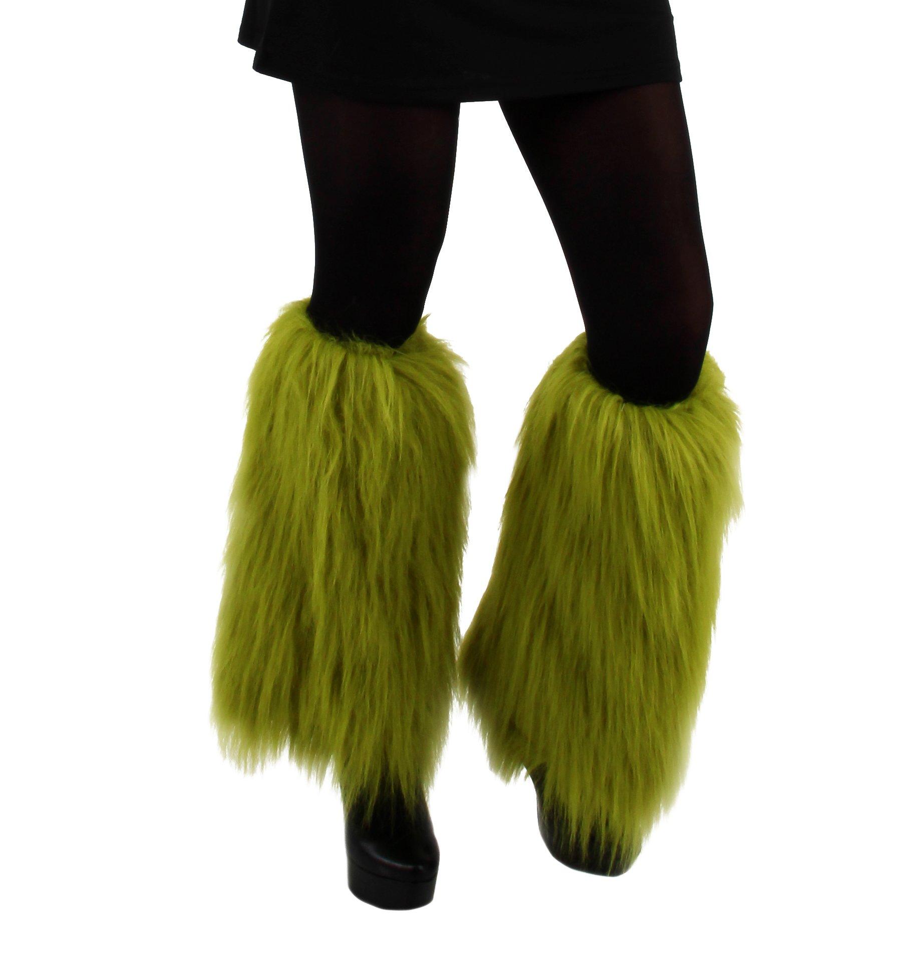 Elope Dr Seuss Grinch Fuzzy Leg Warmers