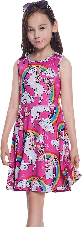Jxstar Girls Unicorn Dress,Hoodie,Mermaid Dress,Legging