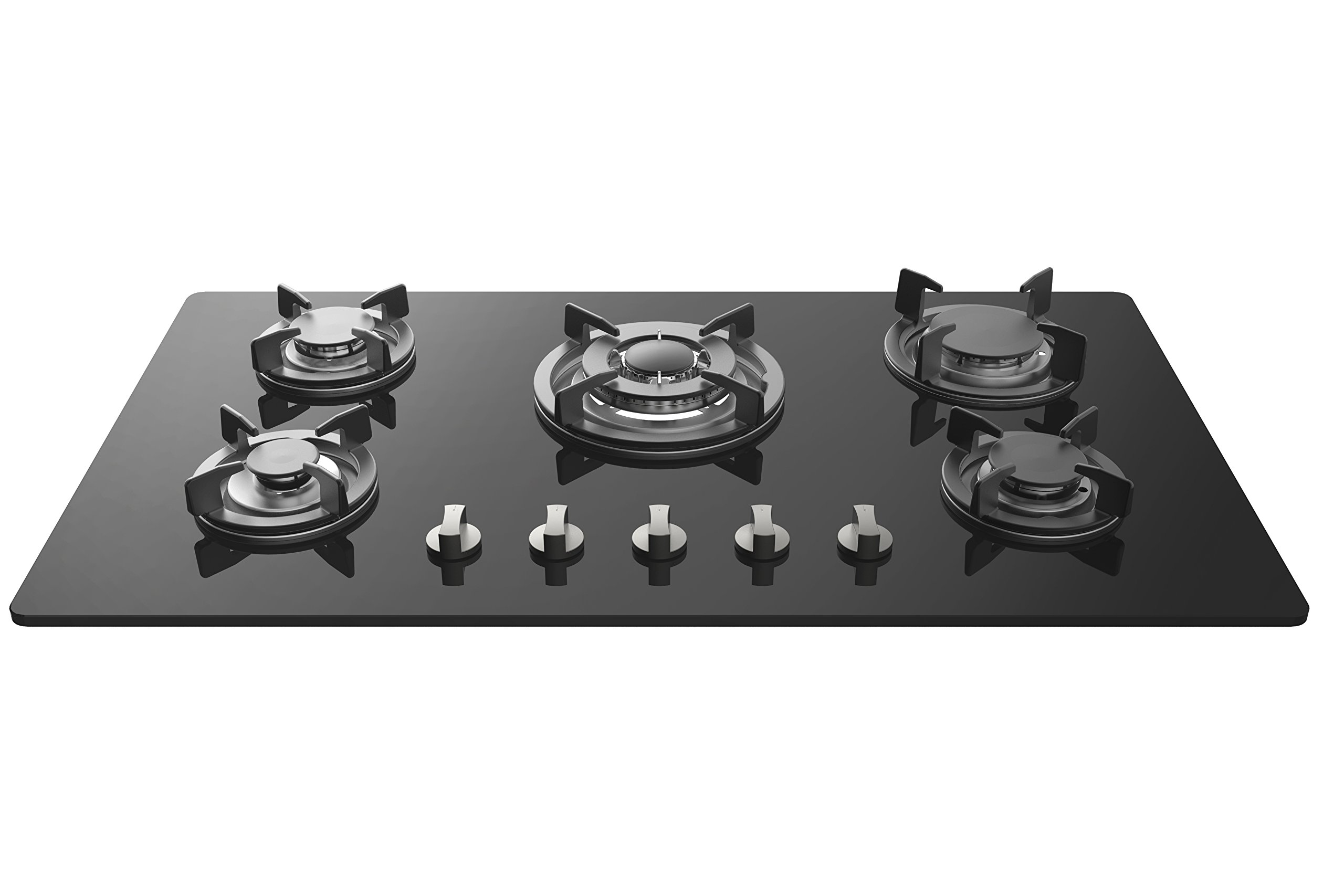 Empava 34'' Tempered Glass Built-in 5 Italy Sabaf Burners Stove Top Gas Cooktop EMPV-34GC5L90A by Empava (Image #1)