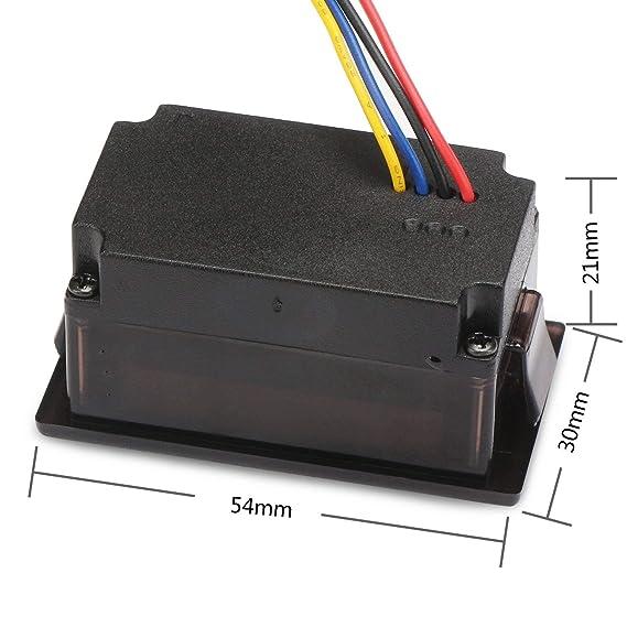 DROK® Impermeable 6-120 V CC - Batería digital con tensiómetro, YB28VE-W - 2 hilos de alimentación - Monitor de tensión para vehículos eléctricos, ...